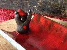 Repose cuillère couleur Noël Le petit lutin surveillera de prêt vos ustensiles de cuisine
