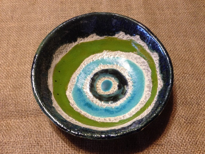 Assiette creuse multicolors