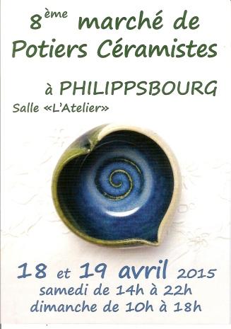 Flyer Marché des potiers avril 2015