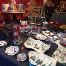 Pièces exposées sur mon stand au marché de Noël de Wissembourg