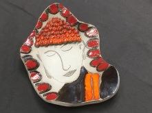 Plat réalisé par une adolescente de 13 ans lors d'un atelier de poterie