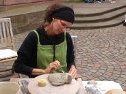 Fabrication d'une tortue durant le marché des terroirs de Haguenau