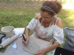 Création et démonstration de poterie