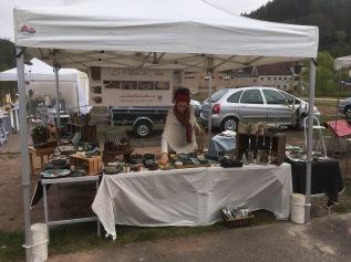 Mon stand au marché des potiers de Philippsbourg
