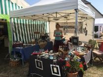 Mon stand au marché des potiers de Guewenheim