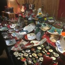 Mes pièces exposées sur mon stand au marché de Noël de Wissemsbourg