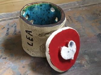 Boite de rangement fabriquée par Léa