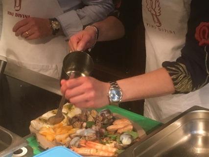 Plat de fruits de mer préparé par Elise - restaurant Vini Divini Enoteca