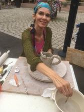 Fabrication d'une carafe eu guise de démonstration à la nuit artisanale de Niederbronn-Les-Bains 2018