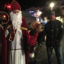 Saint-Nicolas en visite au marché de Noël de Niederbronn-Les-Bains (2018)