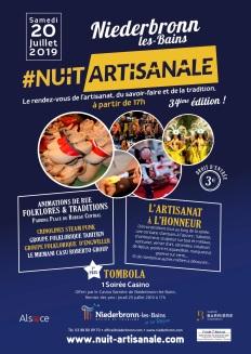 Flyer nuit artisanale 2019 de Niederbronn-Les-Bains