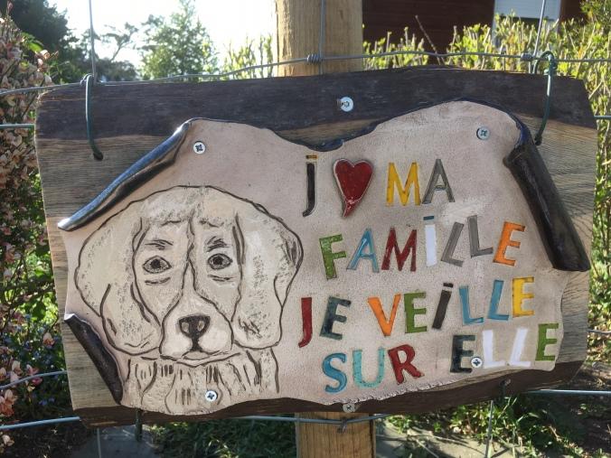 Pancarte présence d'un chien