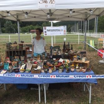 Stand au marché de l'Artisanat et du Terroir de Philippsbourg 2020 - Respect de la distance sociale