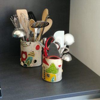 Pots de rangement pour ustensiles de cuisine