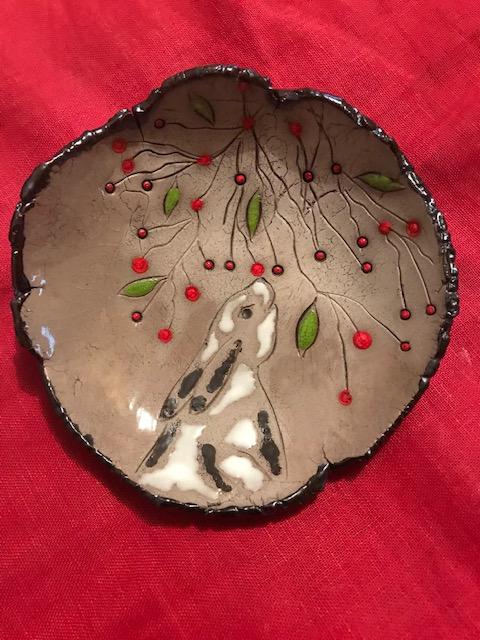 Coupelle Lapin sur le thème de Noël